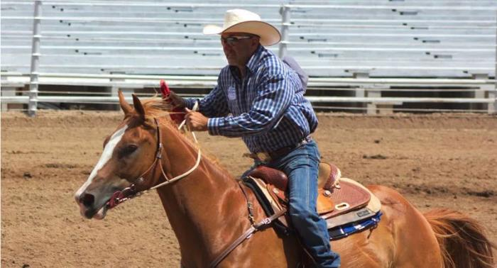 A participant in the Zia Regional Rodeo, held last weekend in New Mexico