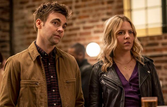 Drew Tarver and Heléne Yorke in 'The Other Two'
