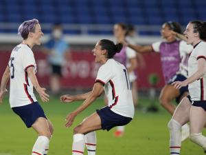 Rapinoe Converts and US Gets Past Netherlands On Penalties